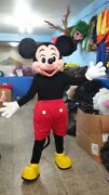 Mickey Mouse Red Shorts Mascot Costume Party Character Birthday Halloween Suit