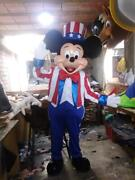American Mickey Mouse 4th July Character Mascot Costume Cosplay Party Event