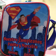 Superman Superhero Party Favors Personalized Bags Backpacks Themed Pack Of 25