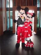 Minnie Mouse Red Dress Mickey Mascot Costume Party Character Birthday Halloween