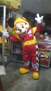 Mickey Mouse And The Roadster Racers Mickey Mascot Costume Party Character Suit