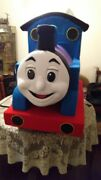 Thomas The Train Mascot Costume Party Character Birthday Halloween Cosplay Suit