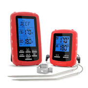 Wireless Grill Bbq Meat Thermometer For Grilling W/ 2 Probes Timer Alarm Kitchen