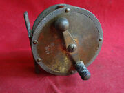 X Rare Vintage 1920/30and039s Dam Brass Crank Wind Reel With Early D.a.m. Goat Mark