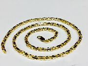 18k Solid Yellow Gold Anchor Mariner Link Chain Necklace 4 Mm 37 Grams 16andrdquo