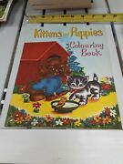 Kittens And Puppies Coloring Book New Western Printing With Stamp And Editor Notes