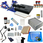 3 Color Screen Printing Kit With Flash Dryer Exposure Unit Manual Tools Ink