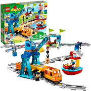 Lego Duplo Cargo Train Battery Operated Building Blocks Set Kids Toy Track Play