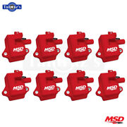 Msd Pro Power Ignition Coil-on Plug Fits 97-2004 Gm Ls1/ls6 Engines Red, 8-pack