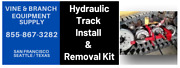 Hydraulic Track Install And Removal Kit / Asv / Caterpillar / Terex / Rc30 / Pt30