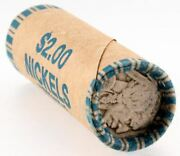 2 Buffalo Nickel Roll 40 Coins Vintage Pds Us Lot Mixed Partial No Date