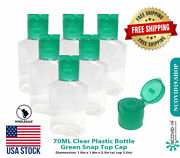 2.4oz 70 Ml Empty Clear Pet Plastic Bottles W/ Flip Top Caps - 5 To 1000 Packs