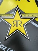 """1 Large 10"""" Authentic Rockstar Energy Drink Sticker Decal Sign Logo Moto Racing"""