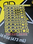 10 Authentic Rockstar Energy Drink Stickers Decal / Sign / Logos Bmx Motocross