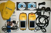 2 Trimble Geoxt Geoexplorer Series 50950-20 W/ Adapters Chargers Cds Guides Etc.