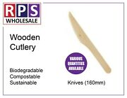 Disposable Wooden Knives 160mm 1-5000 Free Shipping