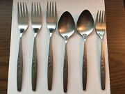 Oneida Will O Wisp Stainless Steel Flatware 6 Pieces Forks And Spoons