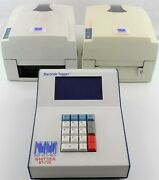 Whittier Bt-720 Barcode Tagger And 2 Lt-8 Printers For Parts Or Repair