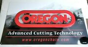 Oregon Chainsaw Advertising Sign Advanced Cutting Technology Metal 15 X 25