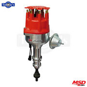 Msd Street Pro-billet Distributor With Steel Gear Fits Ford 351c-460- Red