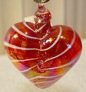 Cupid Red Heart Limited Edition Ornament By Glass Eye Studio, Made Usa1214oas 2