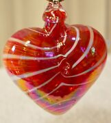 Cupid Red Heart Limited Edition Ornament By Glass Eye Studio, Made Usa1214oas 3