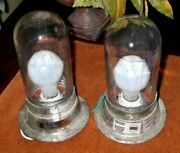 Lot Of 2 Vintage Pc Co. Industrial Cage Lights Factory Steampunk Ship Nautical