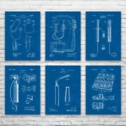 Doctor Tools Posters Set Of 6 Nurse Gift Stethoscope Decor Medical Student Gift