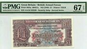 1948 Great Britain/british Arm Forces 2nd Series Andpound1 Pound P-m22a Pmg 67.