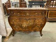 Incredible 1880and039s Old Italian Antique Walnut Painted Cherub Dresser - 13it49b