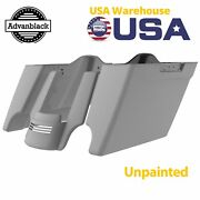 Unpainted Stretched Saddlebags Bags Bottom Rear Fender Extension For 14+ Harley