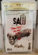 Saw Rebirth 1 Cbcs 9.8 Signed By Jigsaw Tobin Bell Only 2 On Census Like Cgc