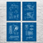 Piano Patent Posters Set Of 4 Pianist Gift Concert Hall Art Musician Gift