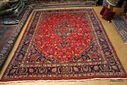 Vintage Circa 1930and039s Antique Tabris Authentic Handmade Hand-knotted 10and039x13and039 Rug