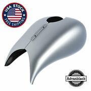 Baracuda Silver Extended Stretched Tank Cover For Harley Davidson 2008-2020