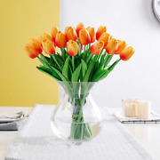Shine-co Lighting Pu Real Touch Tulips Artificial Flowers 10 Pcs Flowers Arrange