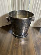 Julia Knight Wine Cooler Ice Bucket Handmade In India Silver Tone 2 Available