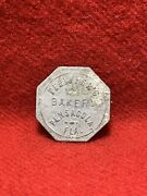 Pensacola, Fl.. Pfeiffers Bakery Good For One Loaf Token 26mm