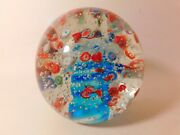 A Stunning Vintage Signed S P I Home Millefiori Doorstop Art Glass Paperweight