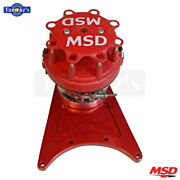 Msd Front Drive Distributor With Standard Ford Cap Fits Gm Big Block - Red