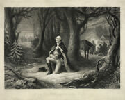 11x14 Print The Prayer At Valley Forge, 1866