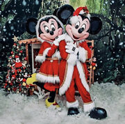 Mickey And Minnie Mouse Costumes Cosplay . Real Photo. Navidad