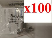 Lot Of 100 New Swagelok Ss-4-vcr-flc Stainless Steel Fitting Lock 1/4 Inch