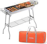 Portable Charcoal Bbq Grill Stainless Steel Non-stick Bag