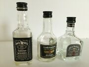 Jack Danieland039s Family Of Fine Whiskey 3-pack Bottle Gift Set Empty Early 2000and039s