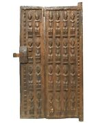 Early 20th C Antique Dogon Mali W Africa Hand-carved Fig Wood Granary Door/latch
