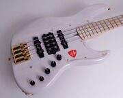 Atelier Z Electric Bass Jhj-190 Tp-wh Gold Hardware