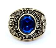 Vintage 1967 California State Longbeach 49ers 10k Gold College School Ring 10.5