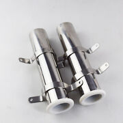 Pair 316 Stainless Steel Flush Mount Fishing Rod Holder Rest Marine Boat 1-5/8and039and039