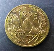Polynesie Francaise 100 Francs 1976 Aunc And Toning Coin